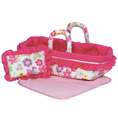 Adora Travel Portable Cloth Doll Toy Carrier Blanket & Pillow Set for Dolls Up to 12""