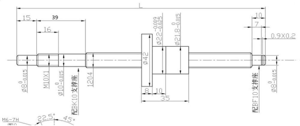 1204 /Écrou /à bille taille : 600 mm Coupleur RM1204 Convient pour CNC impression 3D bo/îtier noix support BF10 End TCYLZ SFU1204 Filetage sph/érique C7 avec finition Endenim