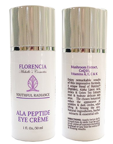 Florencia ALA Peptide Eye Neck Lifting Cream, Anti Aging Wrinkle Eye Treatment, Lifting Hydrating Eye Peptide Cream 1 Oz