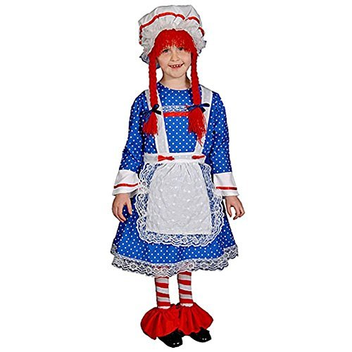 Dress up America Deluxe Rag Doll Costume Set (S) by Dress Up (Rag Doll Costume Set)