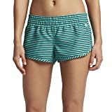 "Hurley Women's Supersuede Stripe Beachrider 2.5"" Board Shorts, Washed Teal - L"