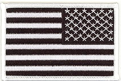 """W USA American Flag Embroidered Patches 3.5/""""x2.25/"""""""