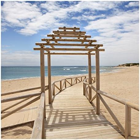 Non-woven Wallpaper- playa camino hacia el mar en Andalucía – Mural Square: Amazon.es: Bricolaje y herramientas