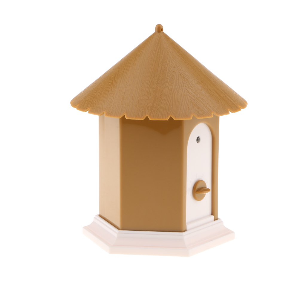 Brown Dolity Stop Barking Dogs Ultrasonic Sonic Trainer for Large Husky Samoyed, Bird House, 5x6'' Brown