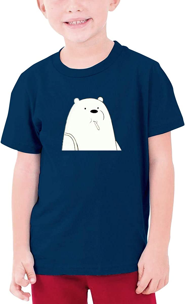 Juwuwenhuachua Customized We Bare Bears Funny Tshirts O-Neck for Youngster Black
