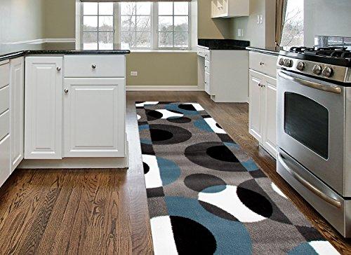 modern circles area rug runner