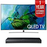 Samsung QN55Q8C Curved 55-Inch 4K Ultra HD Smart QLED TV (2017 Model) w/ Samsung 4K Ultra HD Blu-ray Player & 1 Year Extended Warranty