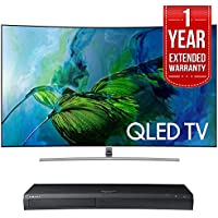 Samsung QN55Q8C Curved 55-Inch 4K Ultra HD Smart QLED TV (2017 Model) w/ Samsung 4K Ultra HD Blu-ray Player & 1 Year Extended Warranty