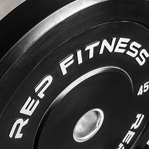 Rep Bumper Plates for Strength and Conditioning Workouts and Weightlifting 25 lb Pair by Rep Fitness (Image #2)