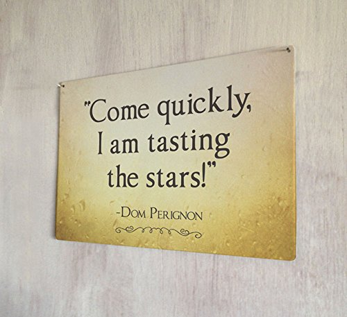 - Artylicious Come Quickly I am Tasting The Stars Champagne Quote Sign A4 Retro Metal Wall Art Sign