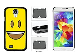Bright Yellow Eyes Open with Teeth Face Plastic Phone Case Back Cover Samsung Galaxy S4 I9500 by lolosakes