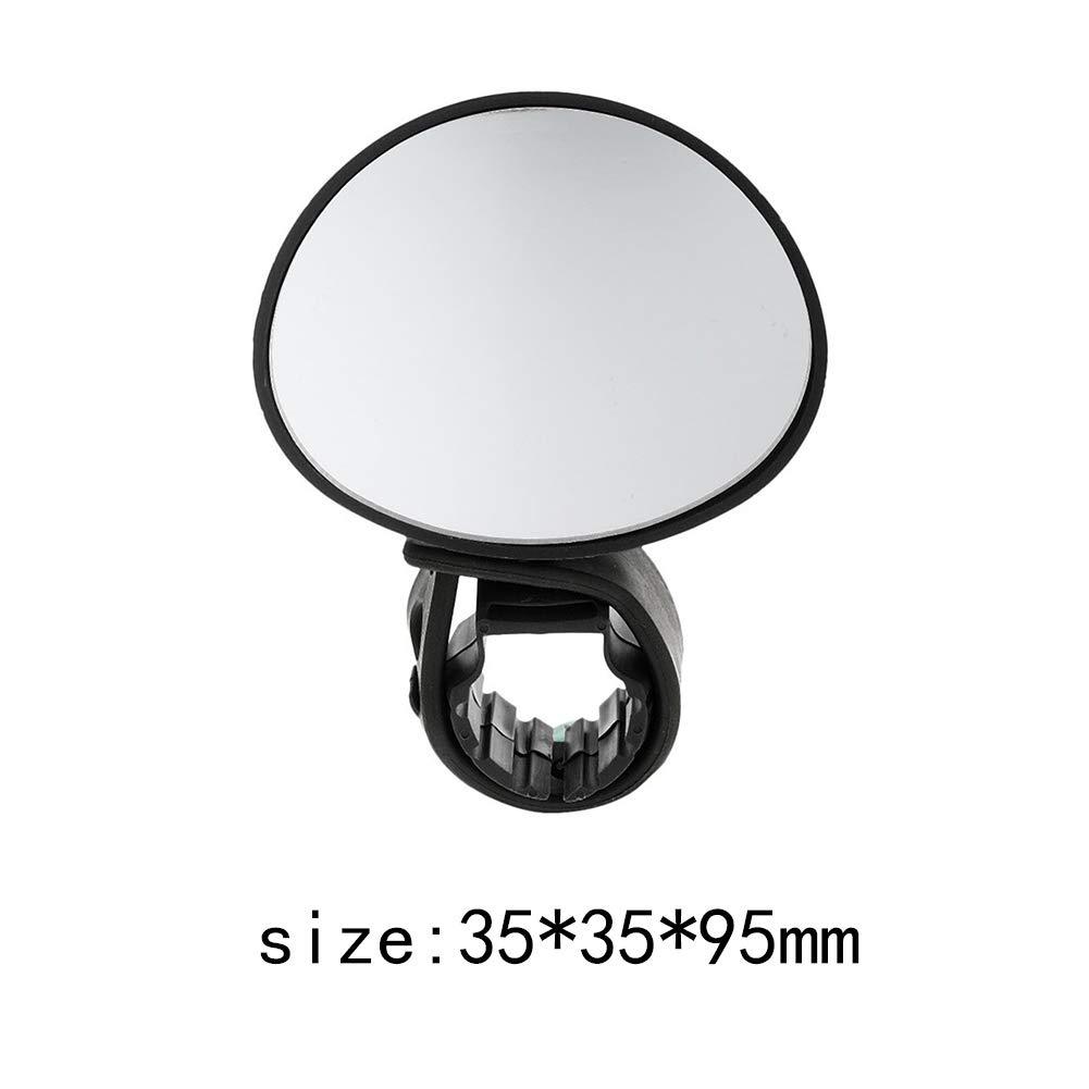 TaoNaisi Manubrio Universale Specchio 360 Gradi di Manubrio SPECCHI per Bici di Montagna della Bici della Strada Nero
