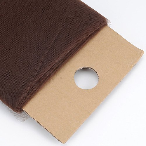 - BBCrafts Chocolate Brown 54 Inch Tulle Fabric Bolt 54 inch 40 Yards