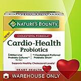 Nature's Bounty Cardio-Health Probiotics 90 Capsules - *Supports Healthy Cholesterol Levels* #1 Cardiologist Preferred Probiotic Strain