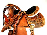 PRO Western 15 16 Rough Out Leather Trail Western Barrel Racing Saddle TACK Set