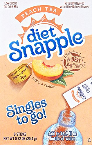 (Snapple Diet Singles To Go Tea, Peach, .72 oz)