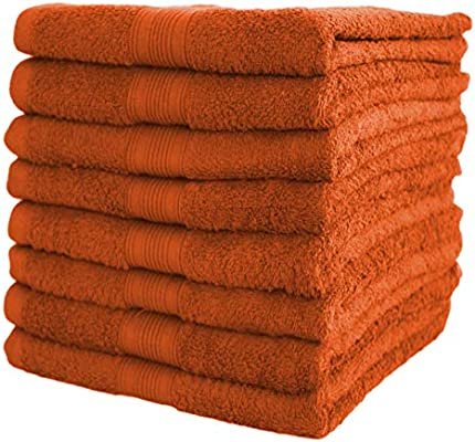 Natural Mark 8 Pack Toallas de Mano de 50 x 100 cm, 100% algodón, Terracota, 50 x 100 cm, 8