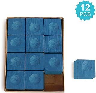 Lixada 12PCS Billiard Chalk Pool Cue Billiard Supplies Pool Cue Accessory