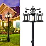 CINOTON Outdoor Lamp Post Light, 3-Head