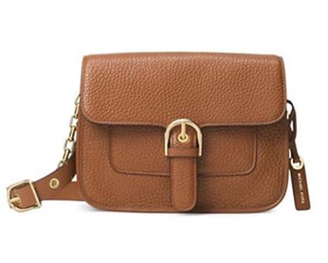 1b09401ed95a MICHAEL Michael Kors Womens Cooper Leather Messenger Handbag Brown Medium