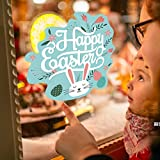 Celendi Happy Easter Gift Happy Easter Wall Sticker Removable Art Home DIY Decals