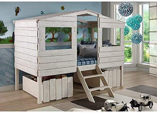 Donco Kids Tree House Low Loft Bed