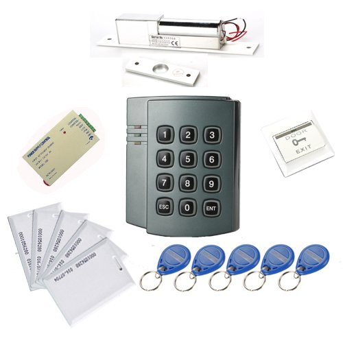 LightInTheBox Full Complete RFID Door Access Control system Kit set including 800kg Electric Magnetic Strike Lock & 12V 3A Power Supply & Plastic button & Proximity Door Entry keypad