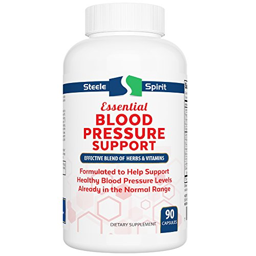 (Blood Pressure Support Supplement - Natural Powerful Herbs & Vitamins to Help Support Healthy Blood Pressure Levels - 90 Capsules - by Steele Spirit)