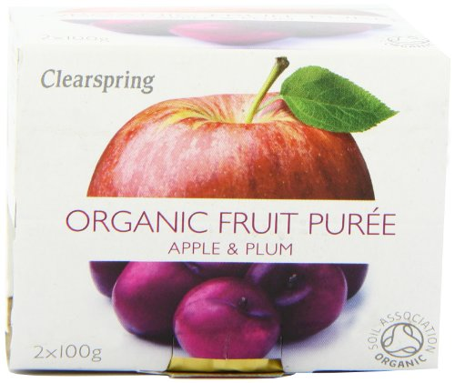 Clearspring Organic Apple and Plum Fruit Puree 2x100g (Pack of 12) by Clearspring