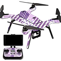 MightySkins Protective Vinyl Skin Decal for 3DR Solo Drone Quadcopter wrap cover sticker skins Purple Pentagon