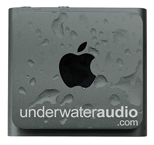 Underwater Audio 100% Waterproofing compatible with iPod Shuffle, Swimbuds Flip, AquaGuard, and Fitgoo (Space Gray)