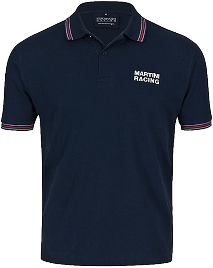 Martini Racing Men/'s Polo Shirt 1981 White