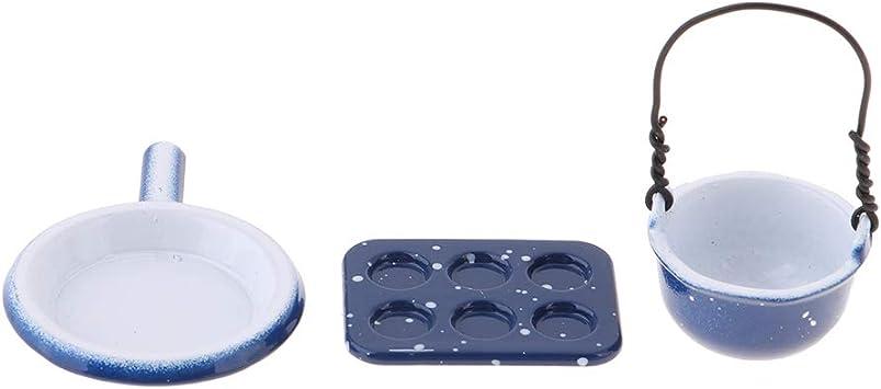 Miniature Poêle à Frire Outil De Cuisson pour Maison de Poupée En Acier