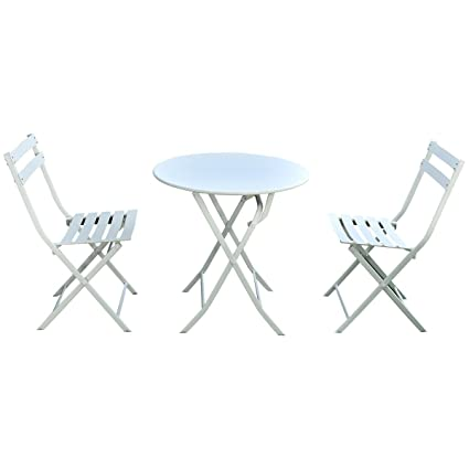 amazon com giantex 3 pc folding bistro style patio table and chair