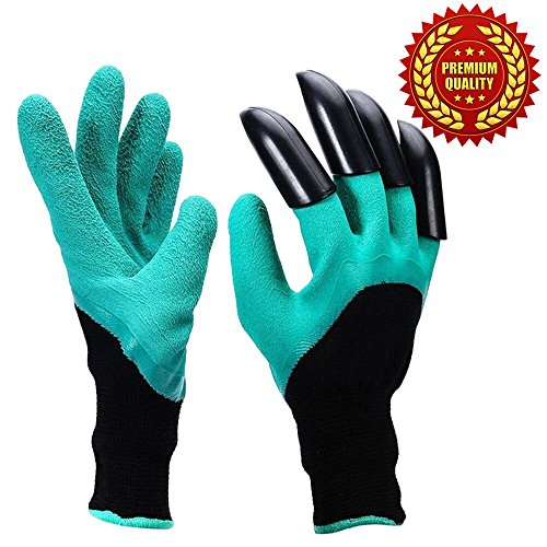 gloves with claws 1 pack/ Fingertips Uniex, Right Claws Quick & Easy to Dig and Plant / gardening gloves Safe for Rose Pruning - As Seen On TV/Saving time, money, - In Moreno Valley Stores
