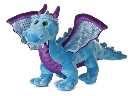 Aurora Plush 14 Inch Blue Dragon With Sound