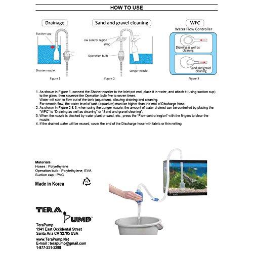 Genuine-TERAPUMP-Aquarium-Cleaner-Aquarium-Fish-Tank-Gravel-Sand-Cleaner-with-Long-Nozzle-N-Water-Flow-Controller-BPA-Free-model-TRFTCLN