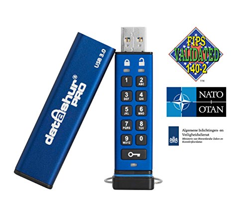 iStorage IS-FL-DA3-256-8 8GB 256-bit datAshur PRO USB 3.0 secure encrypted flash drive