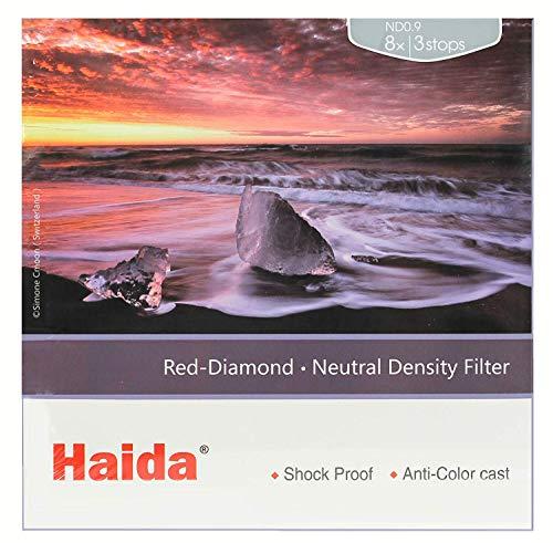 Haida Red Diamond 100mm ND 0.9 3 Stop ND Nanopro Coated Glass Filter 4x4 100x100mm ND8