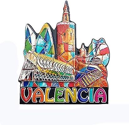 MUYU Magnet Valencia España 3D imán de Nevera de Viaje Souvenir ...