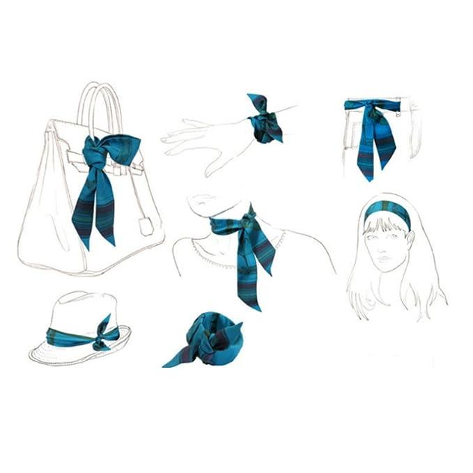 Achat/Vente aspect esthétique couleurs et frappant TOPSTORE01 Summer Mix Couleur Foulard Femme Ruban Echarpe Décoration  Accessoire Sac à Main Bandeau à Cheveux Cravate Poignet de la Serviette
