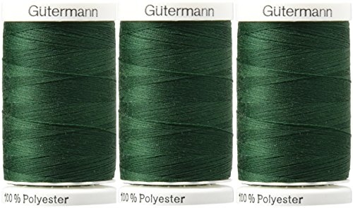 Sew-All Thread 547 Yards-Dark Green (3 Pack) by Gutermann