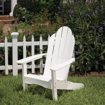 lifestyle poly resin curved back adirondack chair finish black