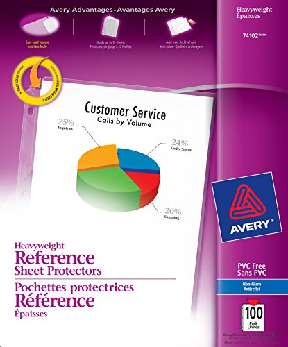 Non Glare Plastic - Avery Heavyweight Non-Glare Sheet Protectors, 8.5