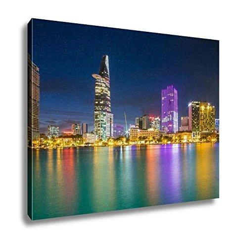 Ashley Canvas, Thu Thiem Night Ho Chi Minh City Viet Nam, Wall Art Home Decor, Ready to Hang, 16x20, AG6087400