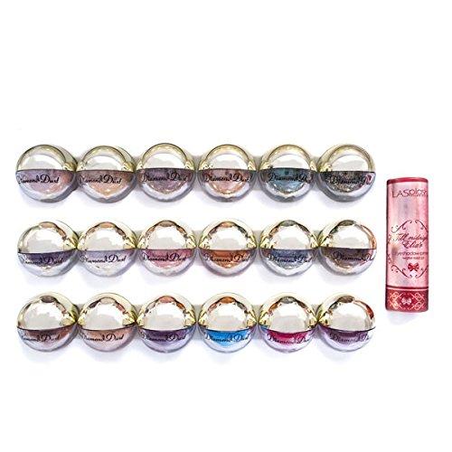LA Splash Cosmetics Mineral Eyeshadow Loose Powder Glitter- DIAMOND DUST Gift Box Set by LA Splash (Image #2)