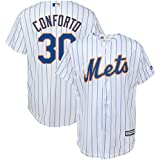 OuterStuff Micahel Conforto New York Mets #30 White Youth Cool Base Home Replica Jersey