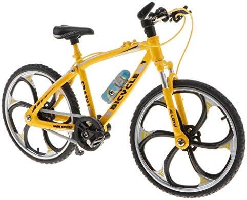 [해외]DYNWAVE 1:10 Scale Bicycle Model Decoration Mini Bike Model Handicraft Bike Craft Cycling Toy for Desktop Decoration - Yellow A as described / DYNWAVE 1:10 Scale Bicycle Model Decoration Mini Bike Model, Handicraft Bike Craft Cycli...