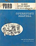 1968 Ford Rotary Lawn Garden Tractor Owner's Manual