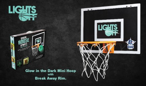 Rough House Lights-Off Glow in the Dark Mini Basketball Hoop by Rough House